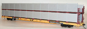 Accurail 89 Partially Enclosed Bi-level Auto Rack Undecorated HO Scale Model Train Freight Car #9400