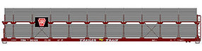 Accurail 89 Partially Enclosed Bi-level Auto Rack Kit Penn RR HO Scale Model Train Freight Car #9404