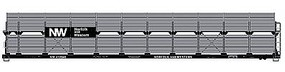 Accurail 89 Partially Enclosed Bi-level Auto Rack Kit N&W HO Scale Model Train Freight Car #9407