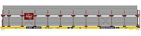 Accurail 89 Bi-Level Auto Rack Milwaukee Road HO Scale Model Train Freight Car #9414