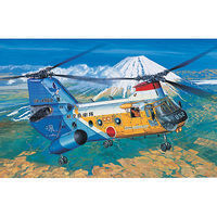 Academy Kawasaki KV-107-II-5 JASDF 50th Anniversary Plastic Model Helicopter Kit 1/48 Scale #12205
