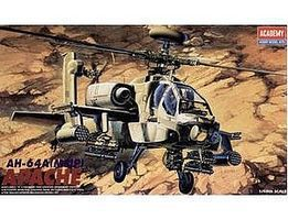 Academy AH64A Apache US Helicopter Plastic Model Helicopter Kit 1/48 Scale #12262