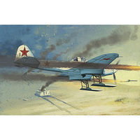 Academy IL-2 Stormovik Single-Seater w/Skis Plastic Model Airplane Kit 1/48 Scale #12286
