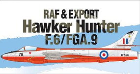 Academy RAF & Export Hawker Hunter F.6/FGA.9 Plastic Model Airplane Kit 1/48 Scale #12312