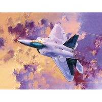 Academy F-22A Raptor Plastic Model Airplane Kit 1/72 Scale #12423