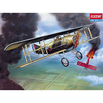 Academy Plastics SPAD XIII WWI RAF -- Plastic Model Airplane Kit -- 1/72 Scale -- #12446