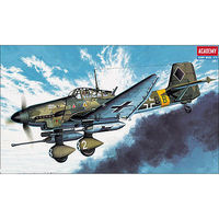 Academy JU87G-1 Stuka Tank Buster Plastic Model Airplane Kit 1/72 Scale #12450