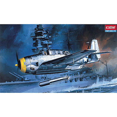 Academy Plastics TBF1 Avenger US Bomber -- Plastic Model Airplane Kit -- 1/72 Scale -- #12452