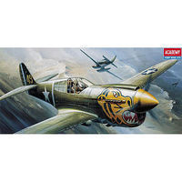 Academy P-40E Warhawk Plastic Model Airplane Kit 1/72 Scale #12468