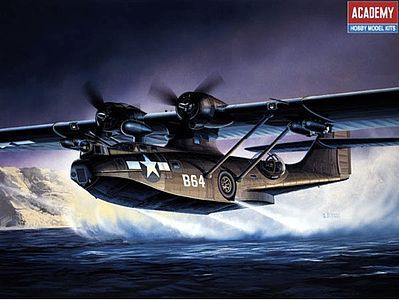 Academy Plastics PBY5A Black Cat Aircraft -- Plastic Model Airplane Kit -- 1/72 Scale -- #12487