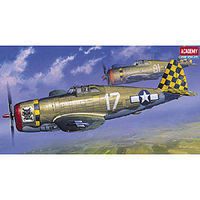 Academy P47D Razorback Fighter Plastic Model Airplane Kit 1/72 Scale #12492