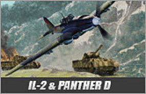 Academy IL-2M / Panther D Plastic Model Airplane Kit 1/72 Scale #12538
