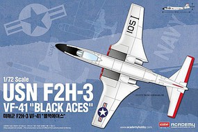 Academy F2H3 VF41 Black Aces USN Fighter 1/72 Scale Plastic Model Airplane Kit #12548