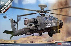 Academy AH-64D Block II Late Version US Army 1/72 Scale Plastic Model Helicopter Kit #12551