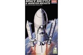 Academy Space Shuttle w/Booster Plastic Model Space Shuttle Kit 1/288 Scale #12707