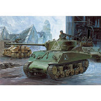 Academy M4A2 Sherman Tank Russian Army Plastic Model Military Vehicle Kit 1/35 #13010