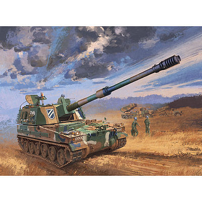 Academy Plastics ROK Army K9 Self-Propelled Howitzer -- Plastic Model Military Vehicle Kit -- 1/35 -- #13219