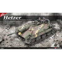Academy Jagdpanzer 38(t) Hetzer Late Version Plastic Model Military Vehicle Kit 1/35 #13230