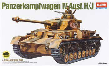 Academy Plastics PzKpfw IV Ausf H Tank -- Plastic Model Military Vehicle Kit -- 1/35 -- #13234