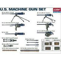 Academy WWII US Machine Gun Set (Replaces #1384) Plastic Model Military Weapon 1/35 Scale #13262