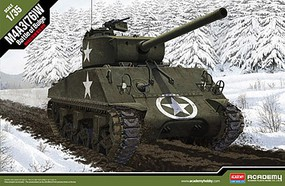 Academy M4A3 (76)W Battle of the Bulge Plastic Model Military Vehicle Kit 1/35 Scale #13500