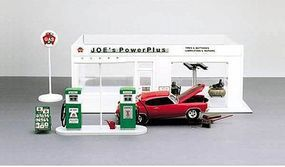 Academy Joes Power Plus Gas Station Plastic Model Building Kit 1/24 Scale #15122