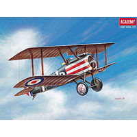 Academy Sopwith Camel WWI RAF Fighter Plastic Model Airplane Kit 1/72 Scale #1624