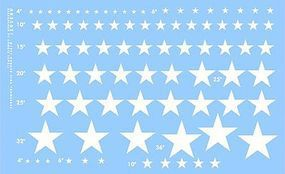 Archer US Stars for Softskinned Vehicles (White) Plastic Model Vehicle Decal 1/35 Scale #35021w
