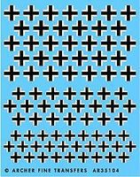 Archer Late WWII German Crosses Plastic Model Vehicle Decal 1/35 Scale #35104