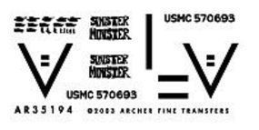 Archer 1st TKS USMC M1A1 Abrams Tank Iraq OIF Plastic Model Vehicle Decal 1/35 Scale #35194