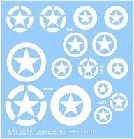 Archer M2/M3 Halftrack Stars (White) Plastic Model Vehicle Decal 1/35 Scale #35225w