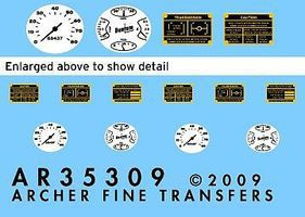 Archer Bantam 40 BRC Instruments & Placards for MNA Plastic Model Vehicle Decal 1/35 Scale #35309