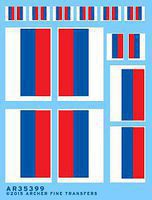 Archer Modern Russian Flags Plastic Model Aircraft Decal 1/35 Scale #35399