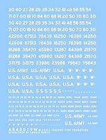 Archer US Vehicle Registration Codes Plastic Model Vehicle Decal 1/48 Scale #48019w