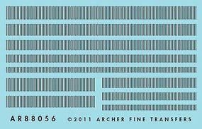 Archer Surface Details Railroad Louver Mix HO Scale Model Railroad Decal #88056