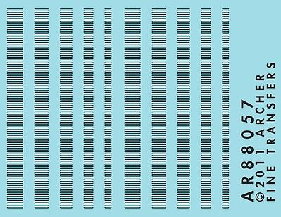 Archer Fine Transfers Surface Details Railroad Louver Mix -- N Scale Model Railroad Decal -- #88057