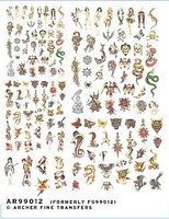 Archer Traditional Tattoos Plastic Model Decal 1/32 Scale #99012