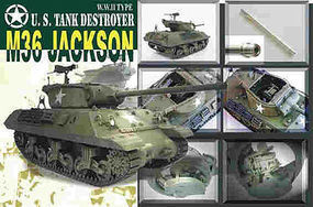 AFVClub US M36 Jackson Tank Destroyer Plastic Model Tank Kit 1/35 Scale #35058