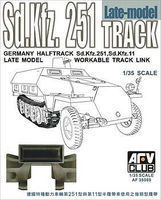 AFVClub SdKfz 251/SdKfz 11 Late Model Workable Track Links Plastic Model Tank Tracks 1/35 #35069