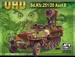 AFVClub UHU SdKfz 251/20 Ausf D Infrared Searchlight Carrier Plastic Model Halftrack 1/35 #35116