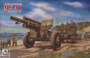 AFV Club WWII US 105mm Howitzer M2A1 & M2 Carriage -- Plastic Model Artillery Kit -- 1/35 Scale -- #35160