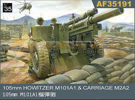 AFVClub 105mm Howitzer M101A1 Gun w/M2A2 Carriage Plastic Model Artillery Kit 1/35 Scale #35191