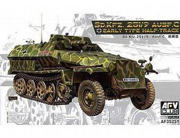 AFVClub SdKfz 251/9 Ausf C Early Type Halftrack Plastic Model Military Vehicle 1/35 Scale #35251