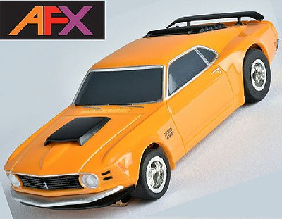 AFX MG+ '70 Mustang Boss Orange