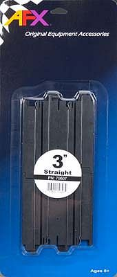 AFX 3 Straight Track (2) -- HO Scale Slot Car Track -- #70607