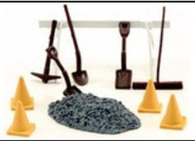 American-Heritage Road Repair 10pc Set O Scale Model Railroad Building Accessory #43922