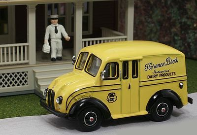 American Heritage Car Co. 1950 Delivery Truck Florence Bros. Dairy Products -- HO Scale Model Railroad Vehicle -- #87004