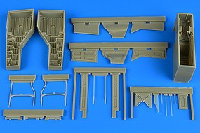 Aires 1/32 T28 Trojan Wheel Bay For KTY (Resin)