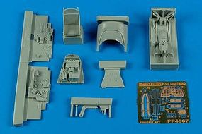 Aires P38F Cockpit Set For an Academy Model Plastic Model Aircraft Accessory 1/48 Scale #4567