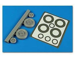 Aires S2F Tracker Wheels & Paint Masks For Kinetic Plastic Model Aircraft Accessory 1/48 #4593